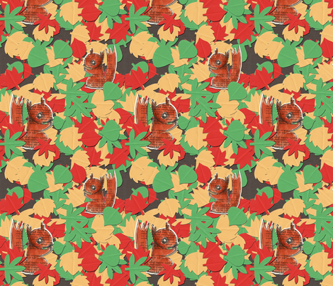 autumn squirrels fabric by littlePrint on Spoonflower - custom fabric