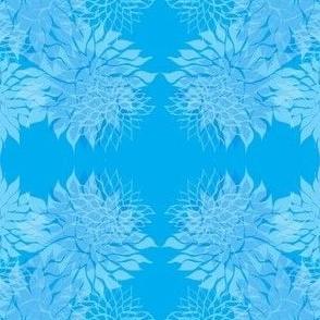 Floating lilies/aqua