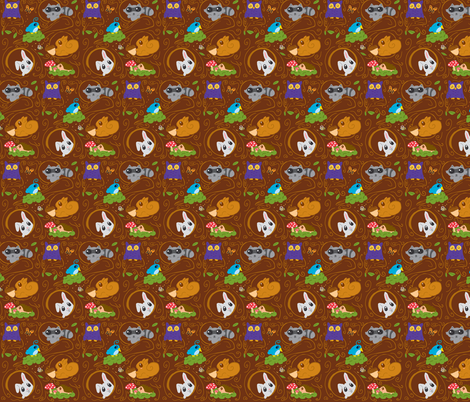 treefriends fabric by fauxfauna on Spoonflower - custom fabric