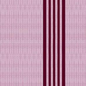 Red waved stripes (cuff)