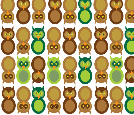 What a HOOT!  fabric by asilo on Spoonflower - custom fabric