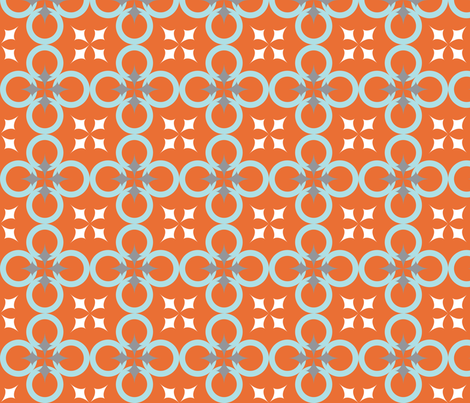Orange Mod Circle fabric by audreyclayton on Spoonflower - custom fabric