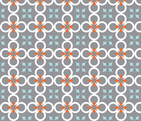 Gray Mod Circle fabric by audreyclayton on Spoonflower - custom fabric