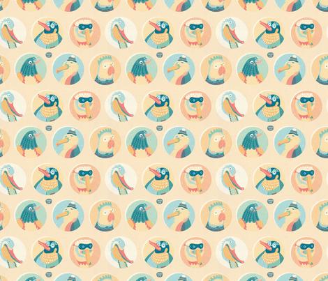 Wild Birds fabric by teken-ing on Spoonflower - custom fabric