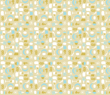 Goldiluxe fabric by acbeilke on Spoonflower - custom fabric