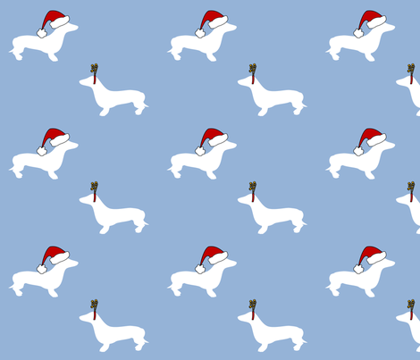 dachshunds for christmas fabric by lowa84 on Spoonflower - custom fabric