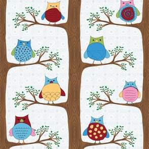 Family of owls (small repeat)