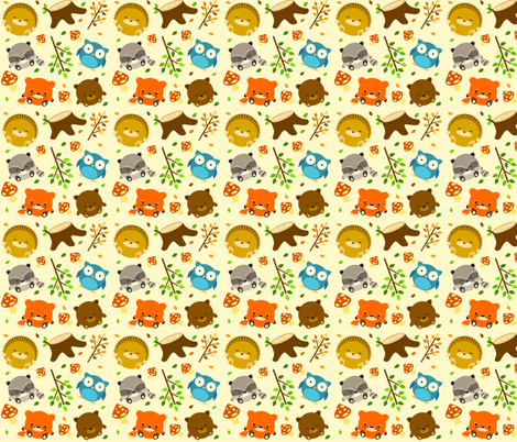 woodcritters_print_01 fabric by waikai on Spoonflower - custom fabric