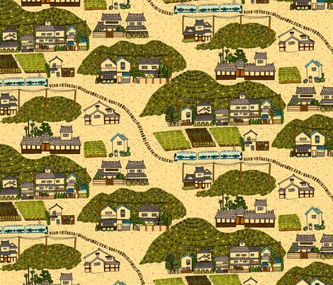 Kyoto Surroundings fabric by 1stpancake on Spoonflower - custom fabric