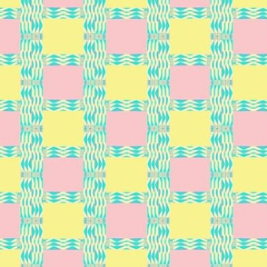 Pastel Watercolor Checks II