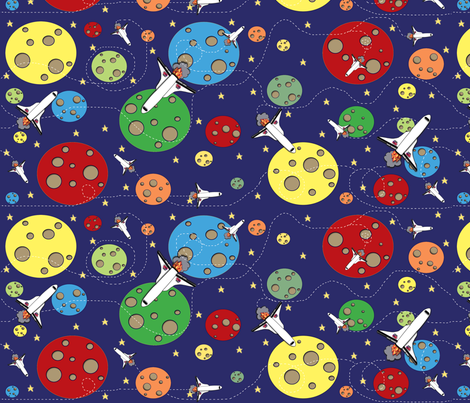 Intergalactic Odyssey  fabric by asilo on Spoonflower - custom fabric