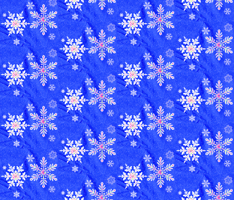 Sparkling Snowflakes II fabric by robin_rice on Spoonflower - custom fabric