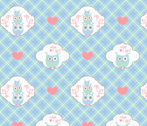 Whoo Loves You? fabric by saraink on Spoonflower - custom fabric