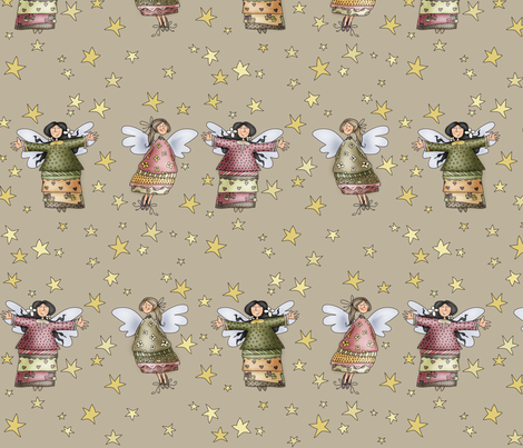 Sweet Angels fabric by catru on Spoonflower - custom fabric