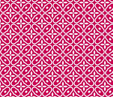 Mosaic - Red fabric by inscribed_here on Spoonflower - custom fabric