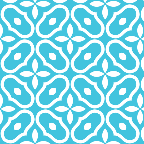 Mosaic - Blue fabric by inscribed_here on Spoonflower - custom fabric