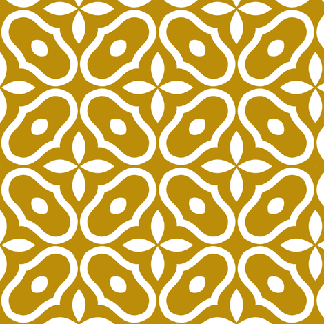 Mosaic - Old Gold fabric by inscribed_here on Spoonflower - custom fabric
