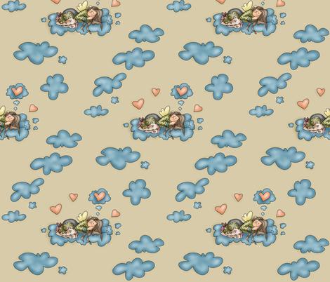 Sleepy Angel fabric by catru on Spoonflower - custom fabric