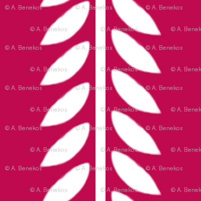 Willow Branch stripe - Magenta