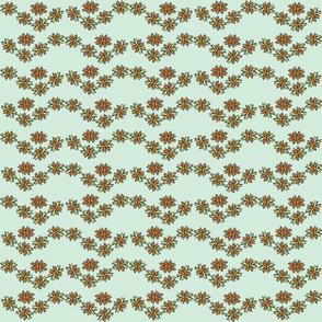 orange flower chain