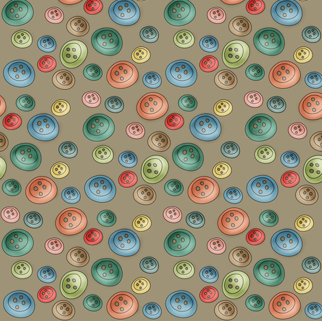 The Polka Buttons fabric by catru on Spoonflower - custom fabric