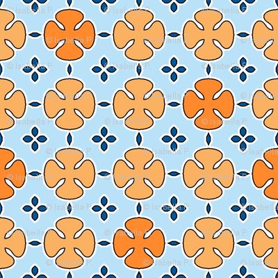 Mosharabi - Orange and Blue