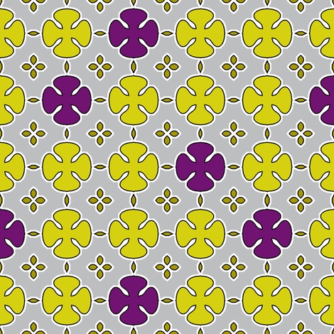 Mosharabi - Silver fabric by inscribed_here on Spoonflower - custom fabric