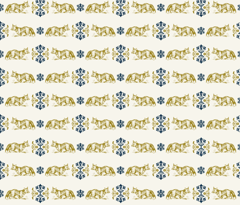 Foxy Loxy  fabric by hauteideas on Spoonflower - custom fabric