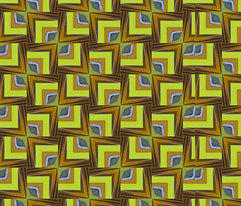 Peacock_Chartreuse fabric by velvetkat on Spoonflower - custom fabric