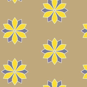 Gray and Yellow Flower