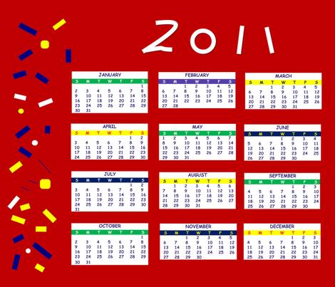 2011 celebrate calendar fabric by moonfern on Spoonflower - custom fabric