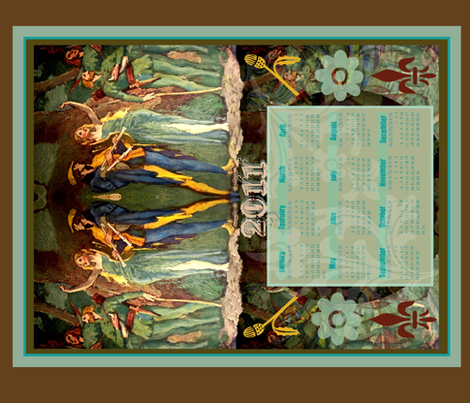 Robin Hood 2011 fabric by paragonstudios on Spoonflower - custom fabric