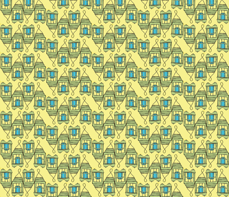 blue candle line fabric by luluhoo on Spoonflower - custom fabric