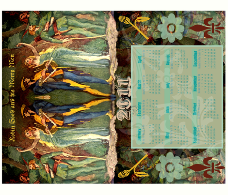 Robin Hood fabric by paragonstudios on Spoonflower - custom fabric
