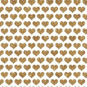 Giltter Hearts Gold