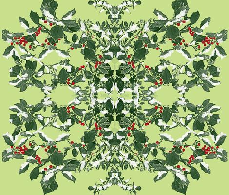 Holly Holiday fabric by hauteideas on Spoonflower - custom fabric