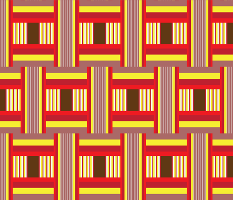 Wide Tribal Stripe in Brick fabric by dolphinandcondor on Spoonflower - custom fabric