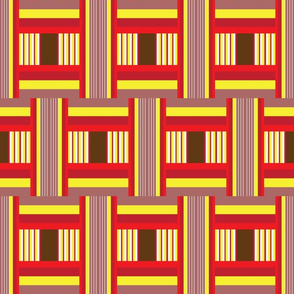 Wide Tribal Stripe in Brick