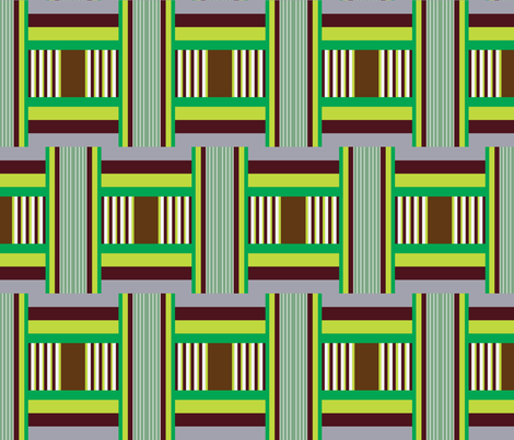 Wide Tribal Stripe Winter Green fabric by dolphinandcondor on Spoonflower - custom fabric