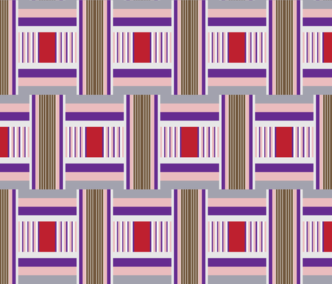 Wide Tribal Stripe Cherry Dip fabric by dolphinandcondor on Spoonflower - custom fabric