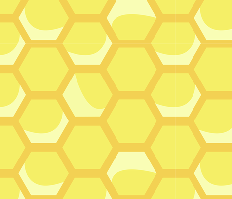 Large Honeycomb fabric by nightgarden on Spoonflower - custom fabric