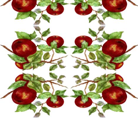 Apples mirror fabric by paragonstudios on Spoonflower - custom fabric