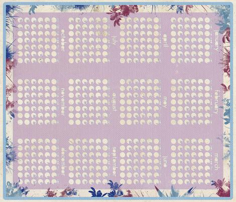 2011 Calendar fabric by leighr on Spoonflower - custom fabric