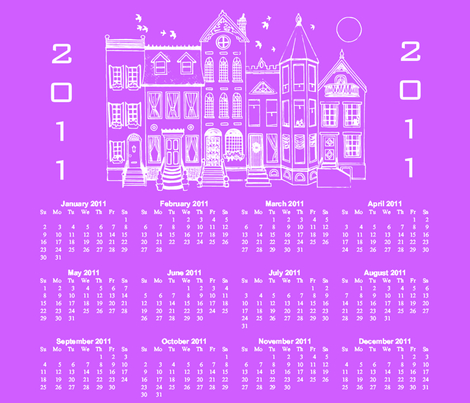 Contest Houses Calendar 2011 fabric by maghee on Spoonflower - custom fabric