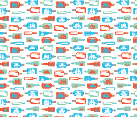ship-bottle-print fabric by bunnypumpkin on Spoonflower - custom fabric