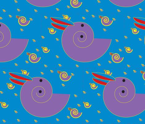 Twirling Rabbit fabric by pgolfen on Spoonflower - custom fabric