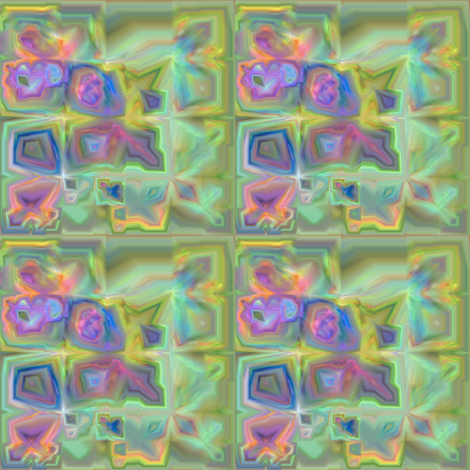 Lina Garden Pansies Fractal fabric by gingezel on Spoonflower - custom fabric