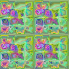 Lina Garden Pansies Fractal