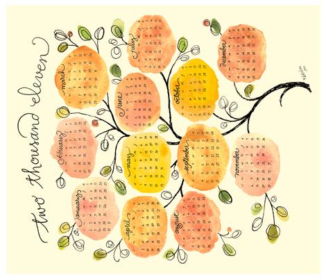 sweet-year-tree-2011 fabric by lisaekström on Spoonflower - custom fabric