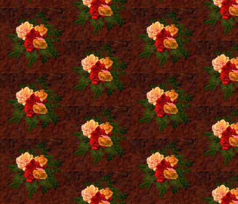 flower bunch fabric by elcynae on Spoonflower - custom fabric